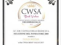 CWSA - China Wine and Spirits Awards 2017
